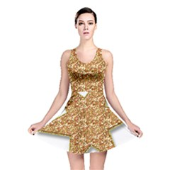 Star Glitter Reversible Skater Dress by Nexatart