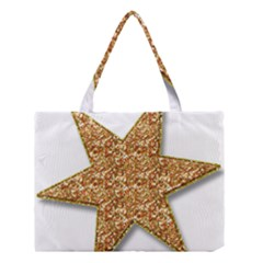 Star Glitter Medium Tote Bag by Nexatart