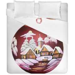 Christmas Decor Christmas Ornaments Duvet Cover Double Side (california King Size) by Nexatart