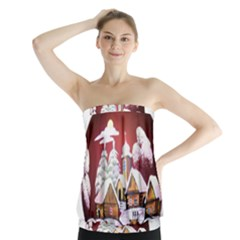 Christmas Decor Christmas Ornaments Strapless Top