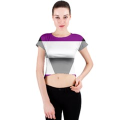 Aegosexual Autochorissexual Flag Crew Neck Crop Top by Mariart