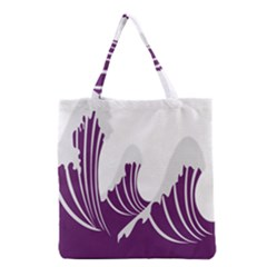 Waves Purple Wave Water Chevron Sea Beach Grocery Tote Bag by Mariart