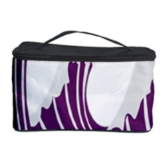 Waves Purple Wave Water Chevron Sea Beach Cosmetic Storage Case by Mariart