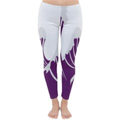 Waves Purple Wave Water Chevron Sea Beach Classic Winter Leggings by Mariart