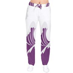 Waves Purple Wave Water Chevron Sea Beach Drawstring Pants by Mariart