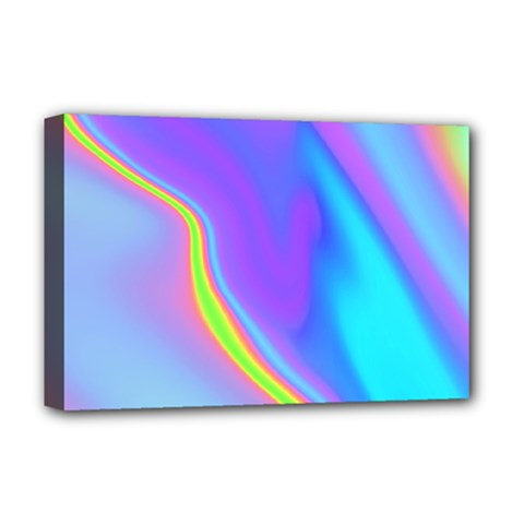 Aurora Color Rainbow Space Blue Sky Purple Yellow Deluxe Canvas 18  X 12