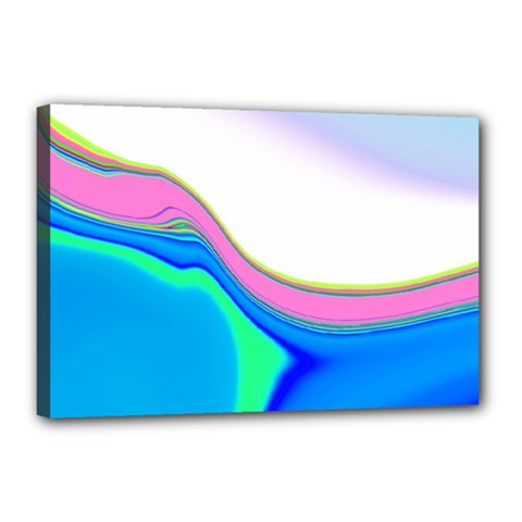 Aurora Color Rainbow Space Blue Sky Purple Yellow Green Canvas 18  X 12  by Mariart