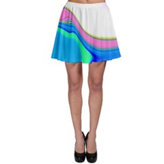 Aurora Color Rainbow Space Blue Sky Purple Yellow Green Skater Skirt by Mariart