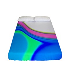Aurora Color Rainbow Space Blue Sky Purple Yellow Green Fitted Sheet (full/ Double Size) by Mariart