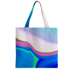 Aurora Color Rainbow Space Blue Sky Purple Yellow Green Zipper Grocery Tote Bag by Mariart