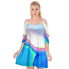 Aurora Color Rainbow Space Blue Sky Purple Yellow Green Cutout Spaghetti Strap Chiffon Dress by Mariart