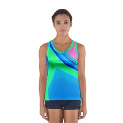Aurora Color Rainbow Space Blue Sky Women s Sport Tank Top  by Mariart