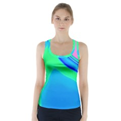 Aurora Color Rainbow Space Blue Sky Racer Back Sports Top
