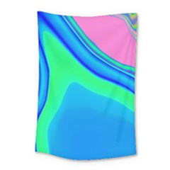 Aurora Color Rainbow Space Blue Sky Small Tapestry by Mariart