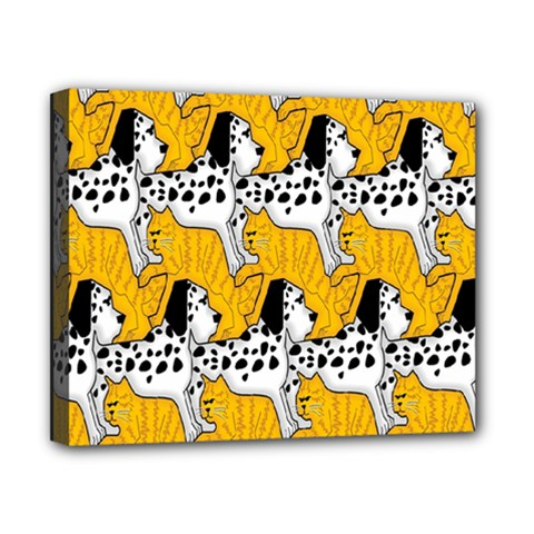 Animals Cat Dog Dalmation Canvas 10  X 8  by Mariart