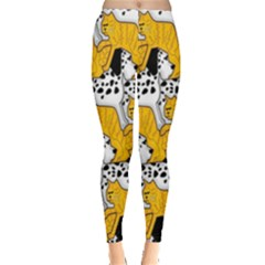 Animals Cat Dog Dalmation Leggings  by Mariart