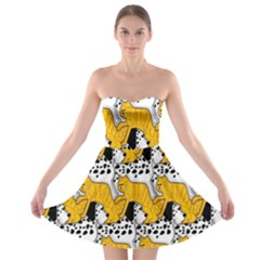 Animals Cat Dog Dalmation Strapless Bra Top Dress