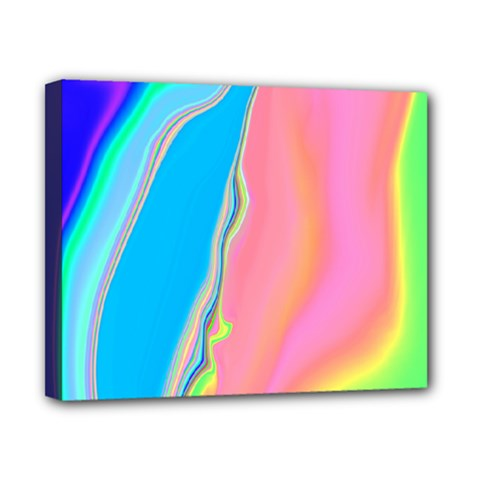 Aurora Color Rainbow Space Blue Sky Purple Yellow Green Pink Canvas 10  X 8