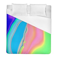 Aurora Color Rainbow Space Blue Sky Purple Yellow Green Pink Duvet Cover (full/ Double Size) by Mariart