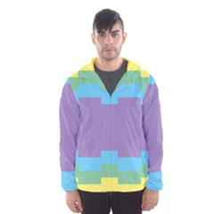 Carmigender Flags Rainbow Hooded Wind Breaker (men) by Mariart