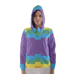 Carmigender Flags Rainbow Hooded Wind Breaker (women) by Mariart