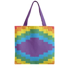 Carmigender Flags Rainbow Zipper Grocery Tote Bag by Mariart