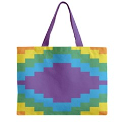 Carmigender Flags Rainbow Zipper Mini Tote Bag by Mariart