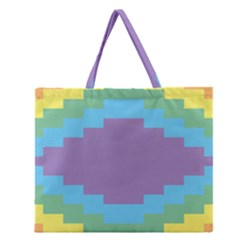 Carmigender Flags Rainbow Zipper Large Tote Bag by Mariart
