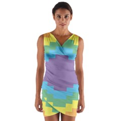 Carmigender Flags Rainbow Wrap Front Bodycon Dress