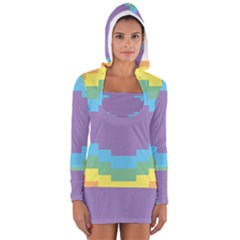 Carmigender Flags Rainbow Women s Long Sleeve Hooded T Shirt by Mariart