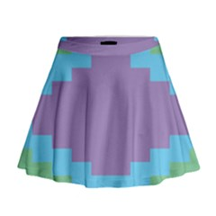 Carmigender Flags Rainbow Mini Flare Skirt by Mariart