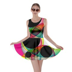 Apollonius Color Multi Circle Polkadot Skater Dress