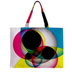 Apollonius Color Multi Circle Polkadot Zipper Mini Tote Bag by Mariart