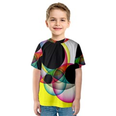 Apollonius Color Multi Circle Polkadot Kids  Sport Mesh Tee by Mariart