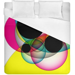 Apollonius Color Multi Circle Polkadot Duvet Cover (king Size) by Mariart