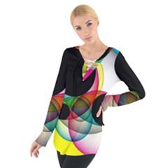 Apollonius Color Multi Circle Polkadot Women s Tie Up Tee by Mariart