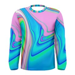 Aurora Color Rainbow Space Blue Sky Purple Yellow Green Pink Red Men s Long Sleeve Tee by Mariart