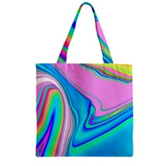 Aurora Color Rainbow Space Blue Sky Purple Yellow Green Pink Red Zipper Grocery Tote Bag by Mariart