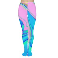 Aurora Color Rainbow Space Blue Sky Purple Yellow Green Pink Red Women s Tights by Mariart