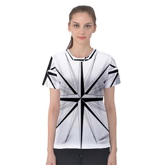 Compase Star Rose Black White Women s Sport Mesh Tee by Mariart