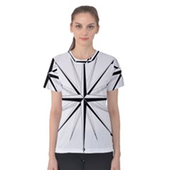 Compase Star Rose Black White Women s Cotton Tee by Mariart