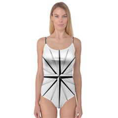 Compase Star Rose Black White Camisole Leotard