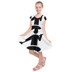 Cropped Kayak Graphic Race Paddle Black Water Sea Wave Beach Kids  Short Sleeve Dress by Mariart