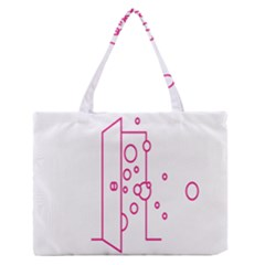 Deep Clean Bubbel Door Pink Polka Circle Medium Zipper Tote Bag by Mariart