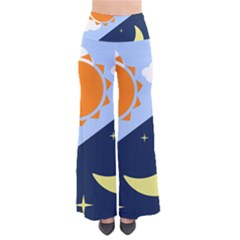 Day Night Moon Stars Cloud Stars Pants by Mariart