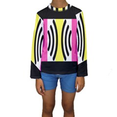 Echogender Flags Dahsfiq Echo Gender Kids  Long Sleeve Swimwear