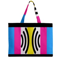 Echogender Flags Dahsfiq Echo Gender Zipper Mini Tote Bag by Mariart