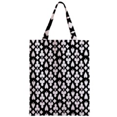 Dark Horse Playing Card Black White Zipper Classic Tote Bag by Mariart