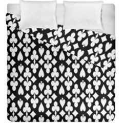 Dark Horse Playing Card Black White Duvet Cover Double Side (king Size) by Mariart