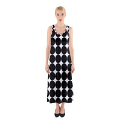 Dotted Pattern Png Dots Square Grid Abuse Black Sleeveless Maxi Dress
